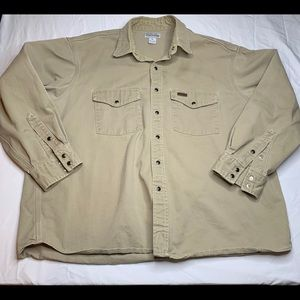 SOLD Carhartt Long Sleeve Khaki XL Button Down